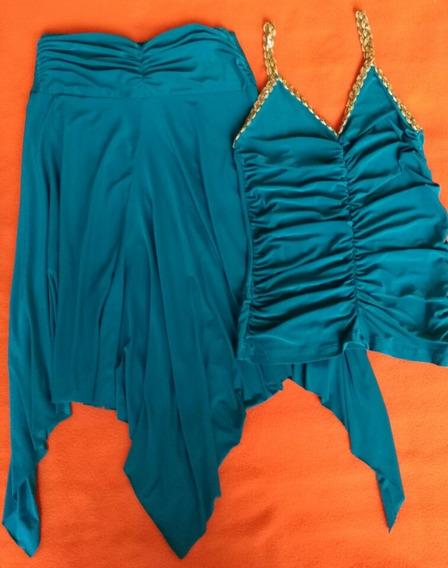 Conjunto De Dama Casual Importado Blusa M Y Falda L