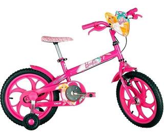 Bicicleta Caloi Barbie - Aro 16 - Infantil - Cor Rosa