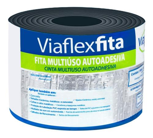 Fita Asfáltica Autoadesiva Aluminizada 10cmx10m - Viaflex