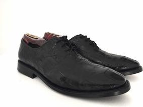 Zapato De Lujo, Piel De Cocodrilo Original