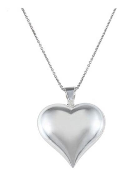Cadena De Plata Con Dige De Corazón