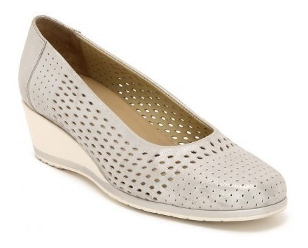 Zapatos Balerinas Onena 5887 Oro O Plata Dama Cuñas Troquel