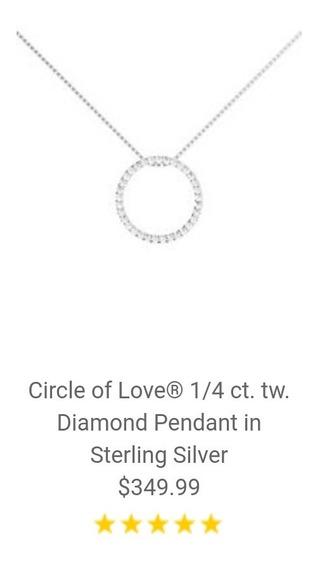Collar Con Pendiente De Diamantes Marca Helzberg Diamonds