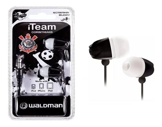 Fone De Ouvido Corinthians Par Auricular Iteam Waldman