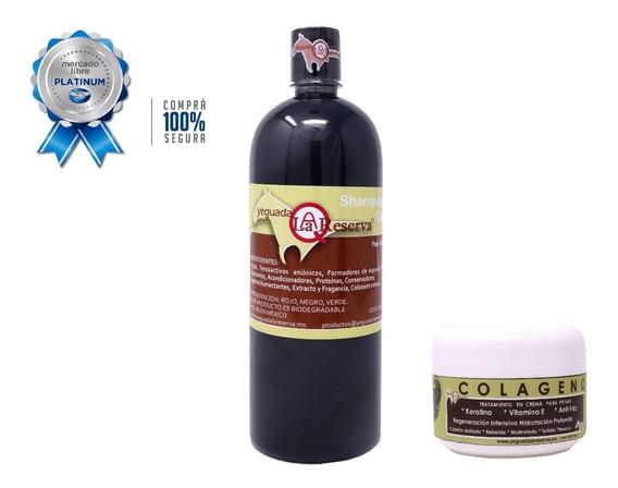 Kit Completo De Shampoo Yeguada La Reserva 100% Original + Colageno Chico Yeguada. Envío Express Gratis