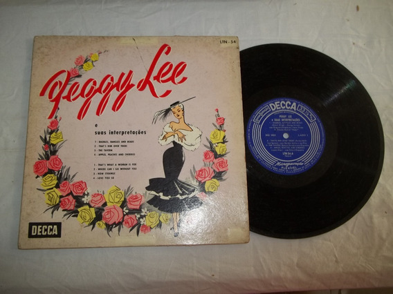 Vinil Lp 10 Polegadas Peggy Lee E Suas Interpretações - Coro