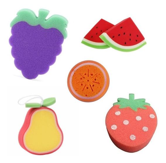 Esponja De Banho Touca Banheira Infantil Elástico Frutas Un