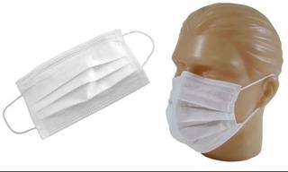100 Mascara Descartável Dupla Camada Proteção Direto Fabrica