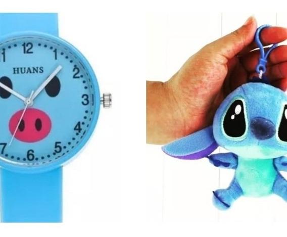 Reloj Y Llaveros Stich