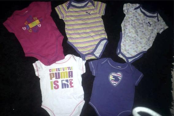 Pack De Bodys Puma (5) De Bebé Niña Talle 6-9 Meses