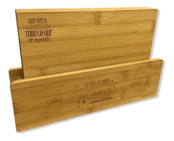 Set 4 Tablas Picadelli Bamboo Multiuso Con Logo Grabado