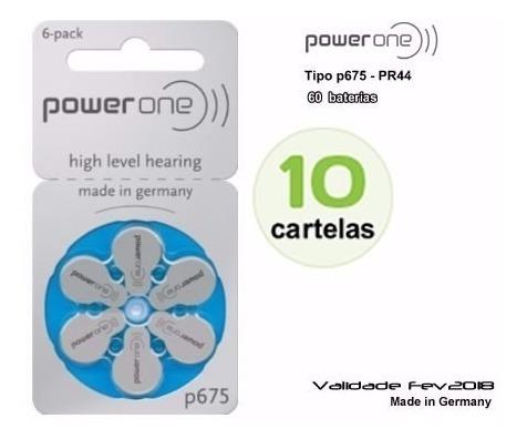Baterias Aparelho Auditivo/power One P675 - Cx C/10 Cartelas