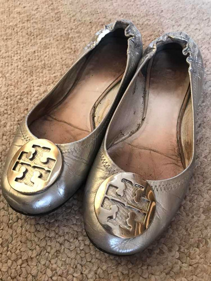 Zapatos Tory Burch Plateados