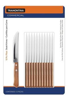 Cuchillos Para Carne Tramontina Mango De Madera