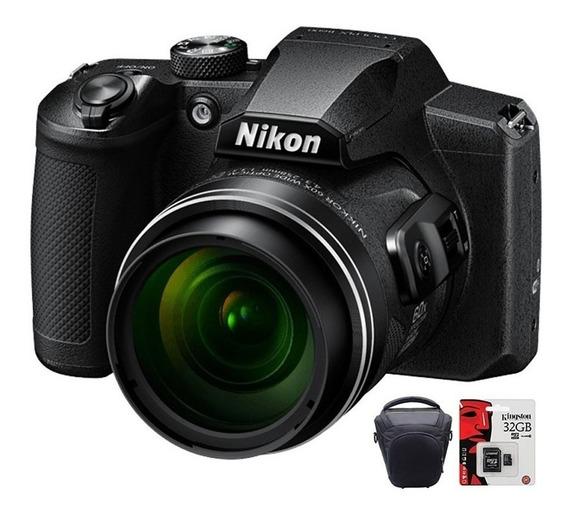 Camara Nikon Digital Coolpix B600 Hd Zoom X60 + 32gb + Bolso