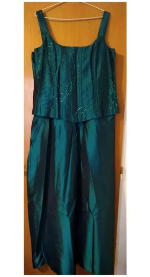 Vestido Fiesta Noche Largo Madrina 15 Años Casamiento Verde
