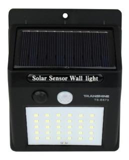 Lampara Solar Sensor De Movimiento Exterior Pasillo Jardin