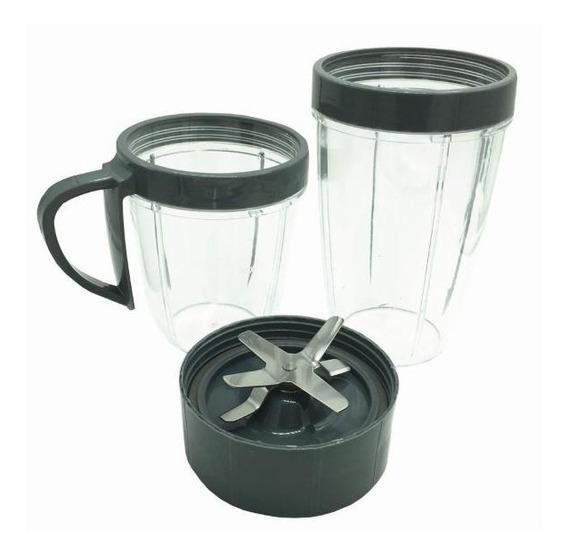 Kit Vasos Con Aspa Y Accesorios De Lujo Nutribullet 100392