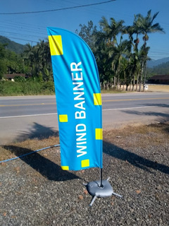 Wind Banner Fly Flag Completo Dupla Face Com Base