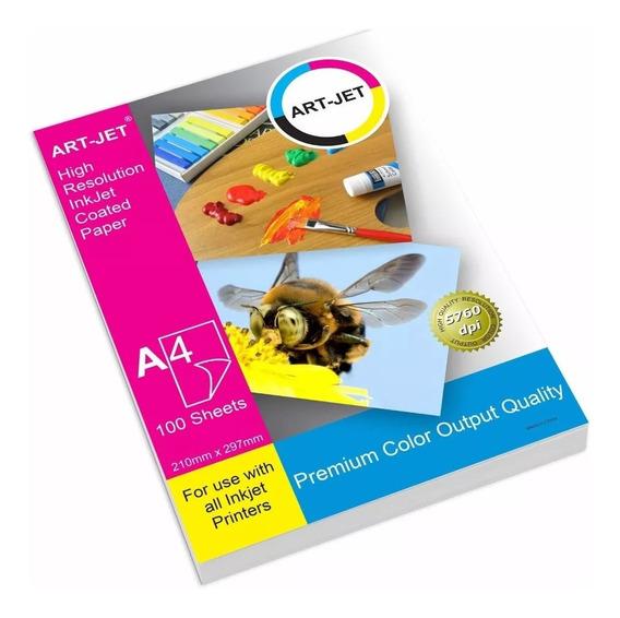 Papel Fotografico 120gr Simple Faz A4 Art-jet® 100 Hojas