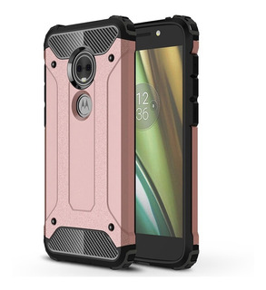 Funda Uso Rudo Moto E5 Play Americano + Glass No Telcel At&t