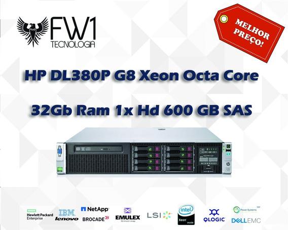 Servidor Hp Dl380 P G8 Xeon Octa Core 32gb Ram 1x Hd 600sas