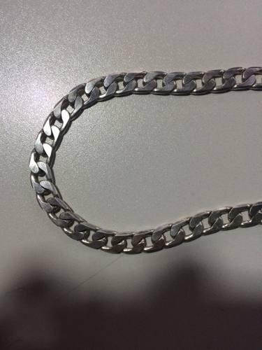 Corrente De Prata Maciça 925 Chapada 64 Cm Prata Nobre 120g