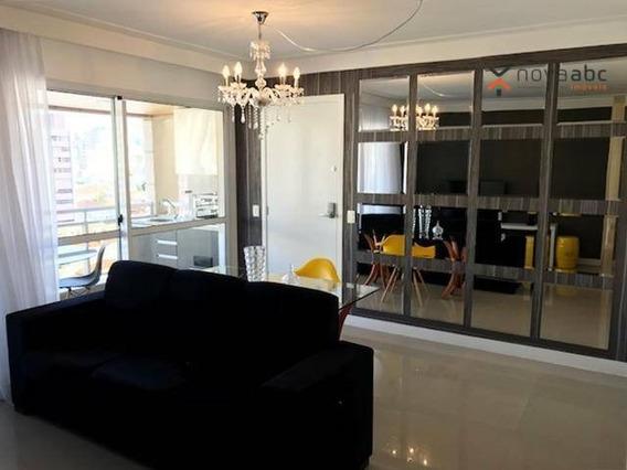Apartamento Mobiliado Com Condomínio, 4 Dormitórios E 2 Vagas De Garagem, No Centro De Santo André! - Ap0519