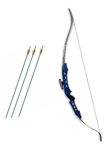 Imagen 1 de 5 de Arco Prana Recurvo Td5 Profesional 35 - 45 Lbs 3 Flechas