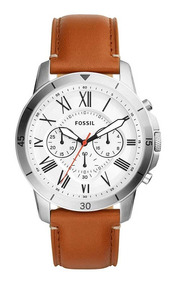 Relógio Fossil Masculino Grant Fs5343/0bn Aço Couro Marrom