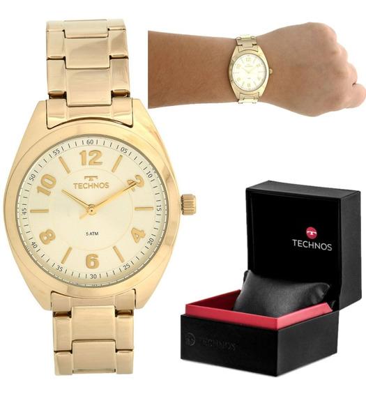 Relógio Technos 2035mcf4x Dourado Promoção Lindo Show