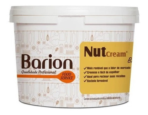 Imagem 1 de 1 de Creme De Avelã Forneavel Balde De 3kg - Barion Nacional