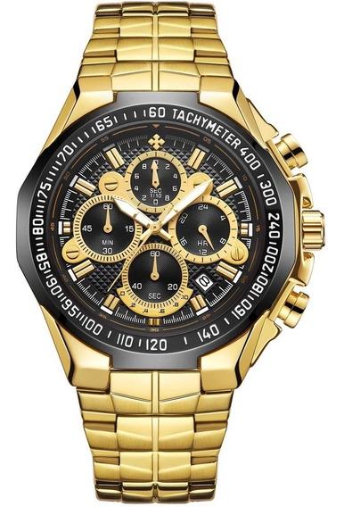 Relógio Masculino Original Wwoor Luxo Funcional Nf-e