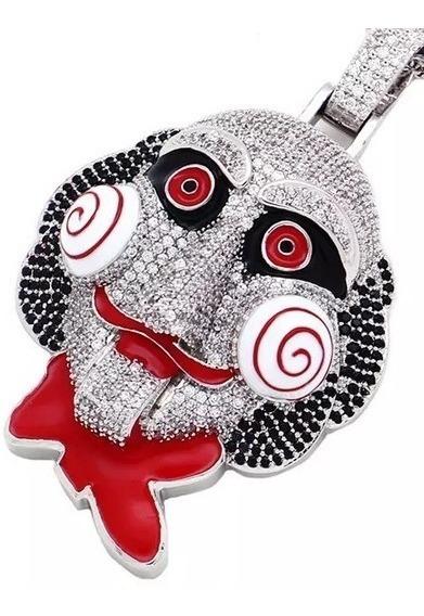 Colar Grande Mascara Horror Jogos Mortais 6ix9ine Hip-hop