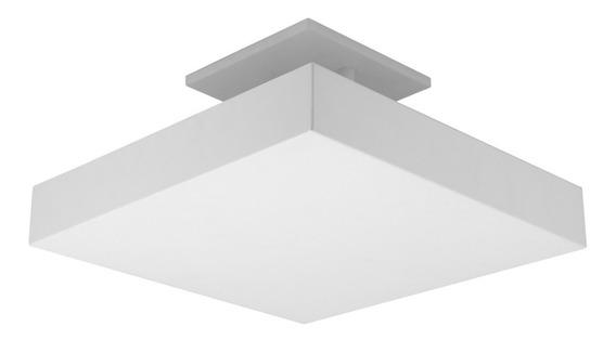 Luminária Plafon Pendente Luz Indireta P/ 4 Lâmp 35x35 Br