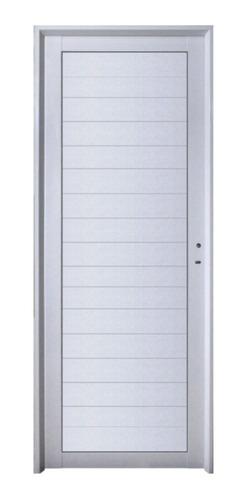 Imagen 1 de 8 de Puerta  Aluminio 80x200 Ciega Lisa  M504 Abershop