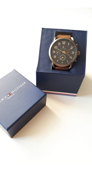 Relógio Tommy Hilfiger Masculino Couro Marrom - 1791425