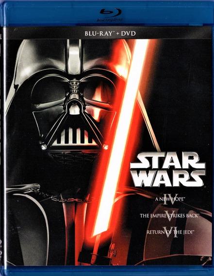 Star Wars Trilogia Episodios 4 5 6 Combo Blu-ray + Dvd