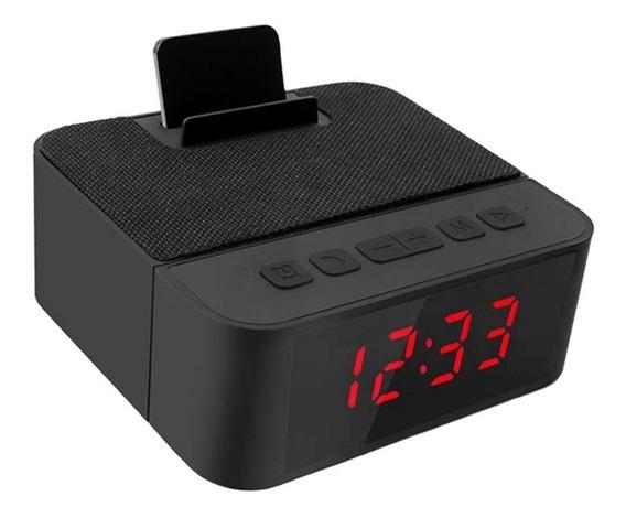 Rádio Relógio Despertador Bluetooth Caixa De Som Mp3 Usb Sd