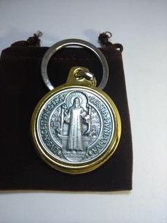 Llavero San Benito Deluxe Medalla