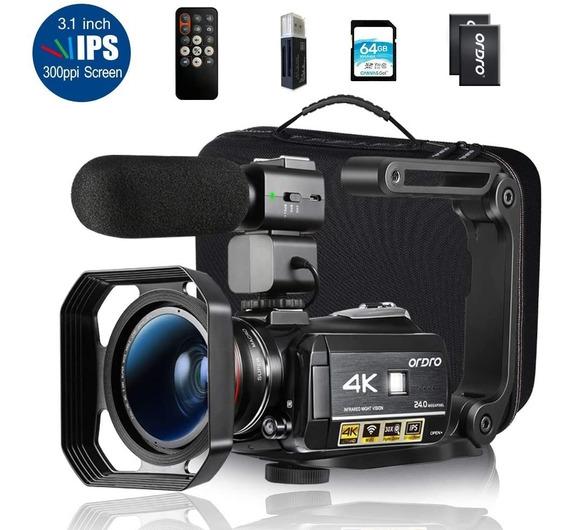 Filmadora Digital Ordro Hdr-ac3 4k Wi-fi Com Maleta