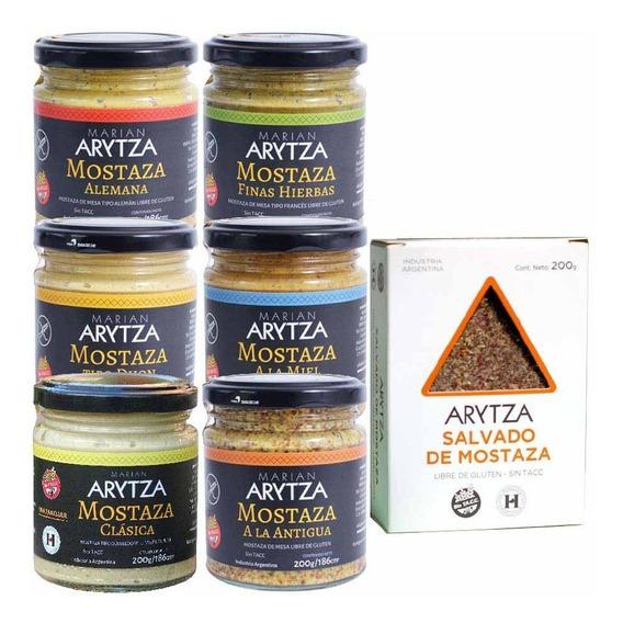 8x Salsas Arytza - Curry, Chimi, Criolla, Mostazas + Regalo