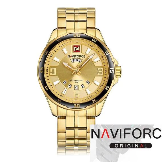 Relógio Naviforce Masculino Pulseira De Aço Inoxidável