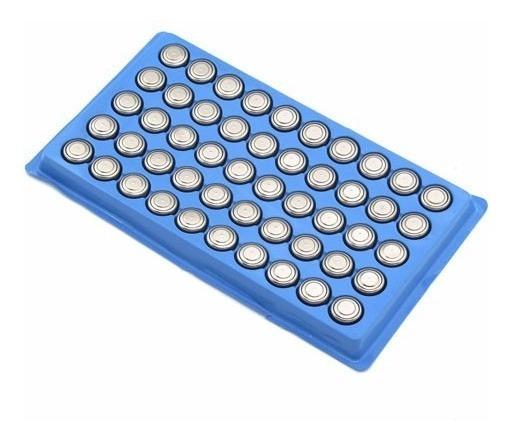 100 Baterias Botão Alcalina Lr44 - Ag13 Soda 2 Cartelas