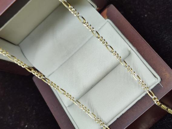 Cadena De Oro Amarillo Tipo Cartier Diamantada 14k Mex