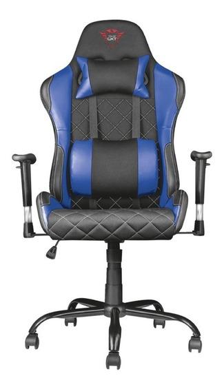 Silla Oficina Gamer Trust Gxt 707r Negra-azul