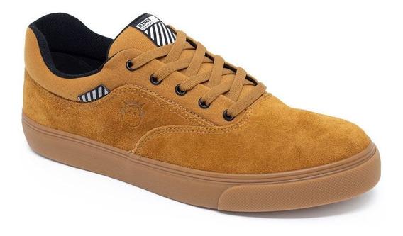 Tênis Kings Sneaker Cano Mid Skatista Street Caramelo