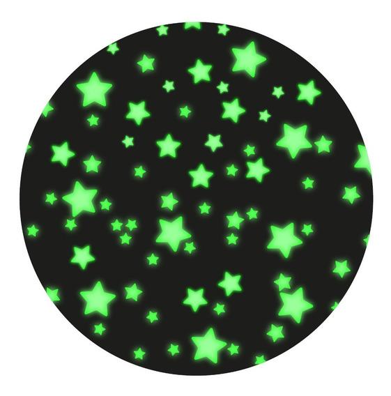Kit 300 Estrellas De Vinilo Fluorescentes Brillan Obscuridad Por 10 Horas Brillo Intenso Envío Exprés Incluido