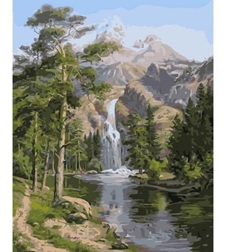 Lienzo Para Pintar Por Números Diy Paisaje Montañas