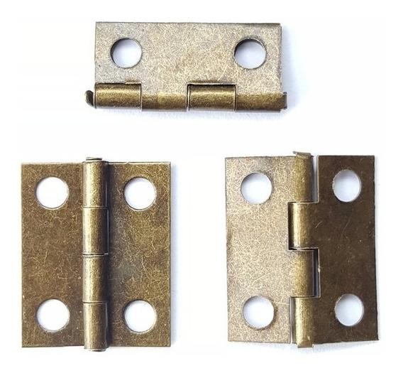 Bisagra Miniatura Laton Antiguo 18 X 15 Mm. Codigo 201.